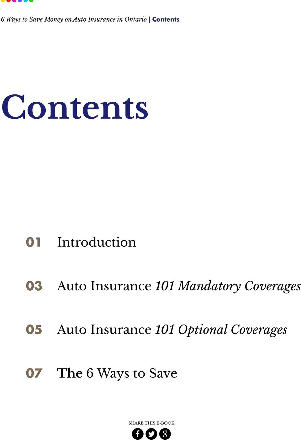 Auto Insurance 101 Mandatory Coverages 05 Auto