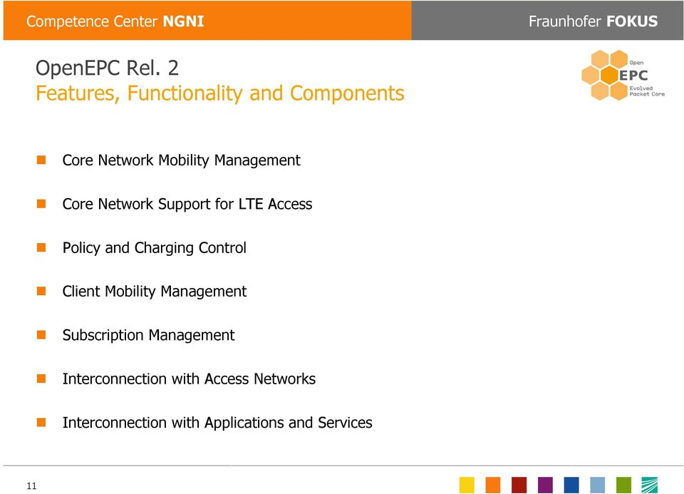 Management Core Network Support for LTE Access Policy and Charging