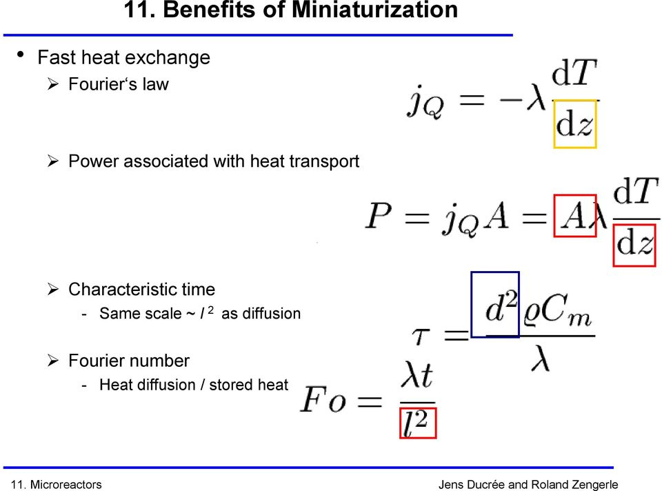 heat transport Characteristic time - Same scale ~