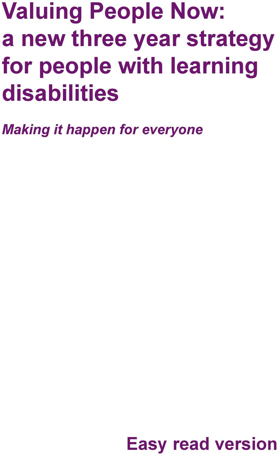 learning disabilities Making it