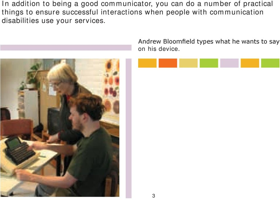 interactions when people with communication disabilities