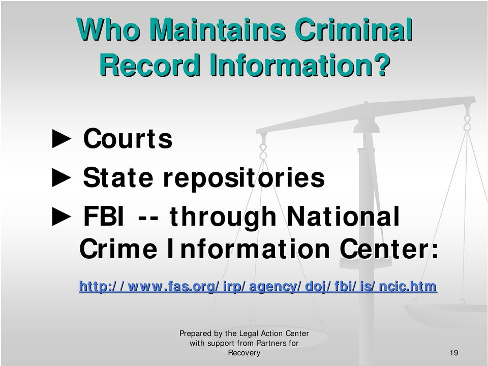 National Crime Information Center: