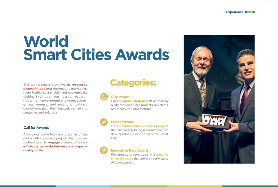 Categories: City Award For city global strategies developed by a city that combines projects, initiatives, and policy implementations.