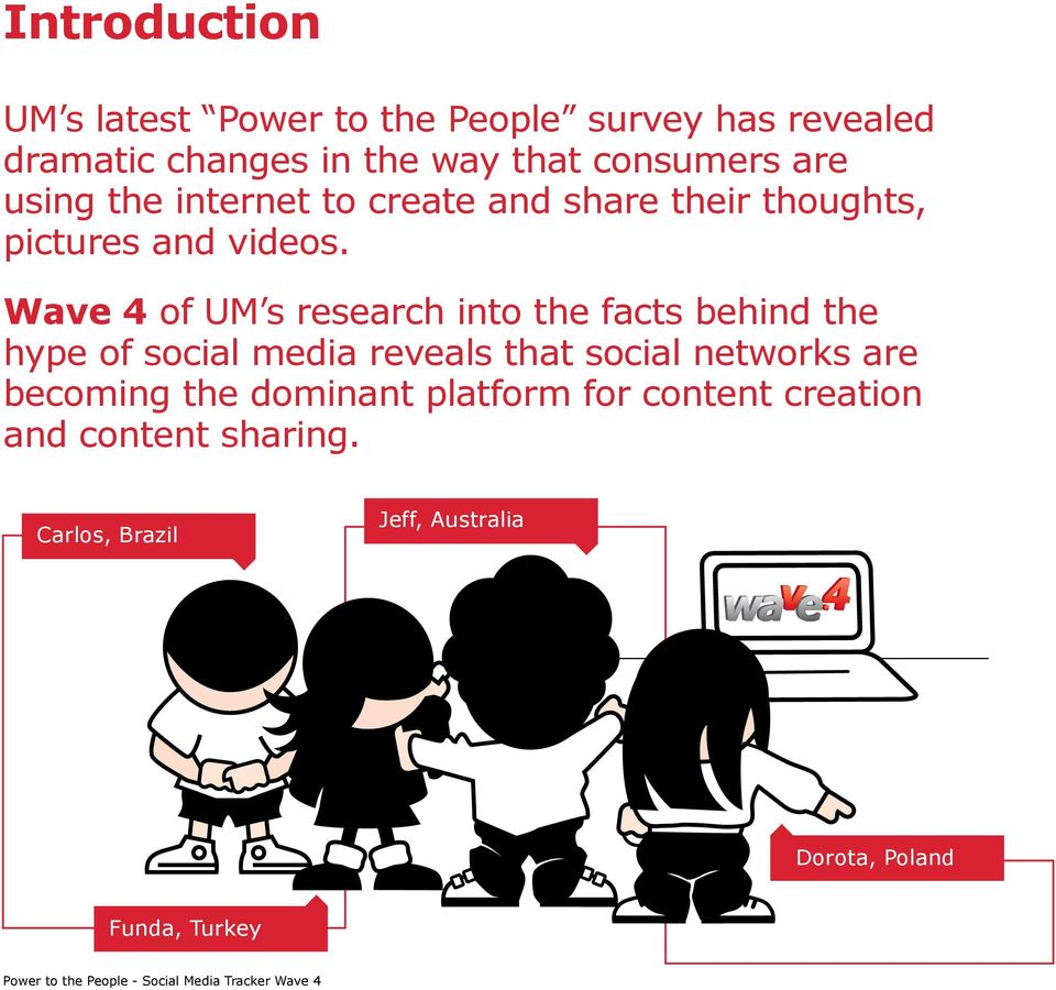 Wave 4 of UM s research into the facts behind the hype of social media reveals that social networks are becoming the