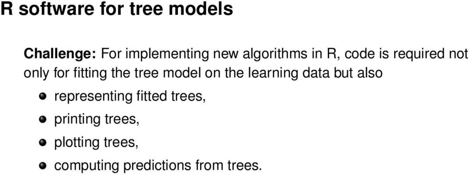 tree model on the learning data but also representing fitted