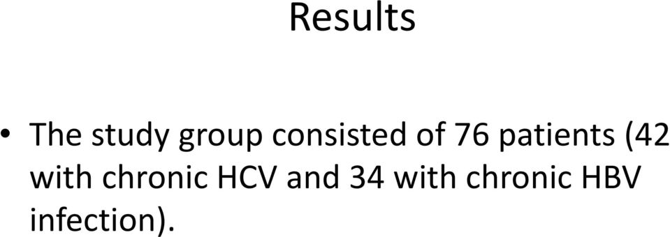 (42 with chronic HCV and