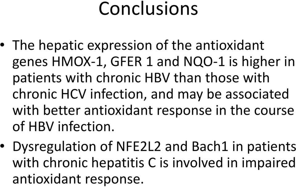 associated with better antioxidant response in the course of HBV infection.