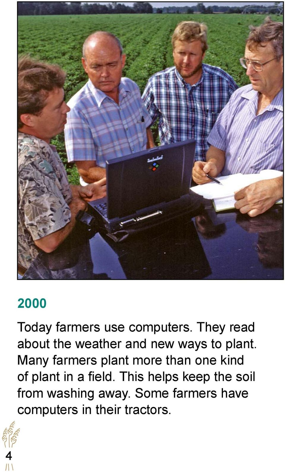 Many farmers plant more than one kind of plant in a field.