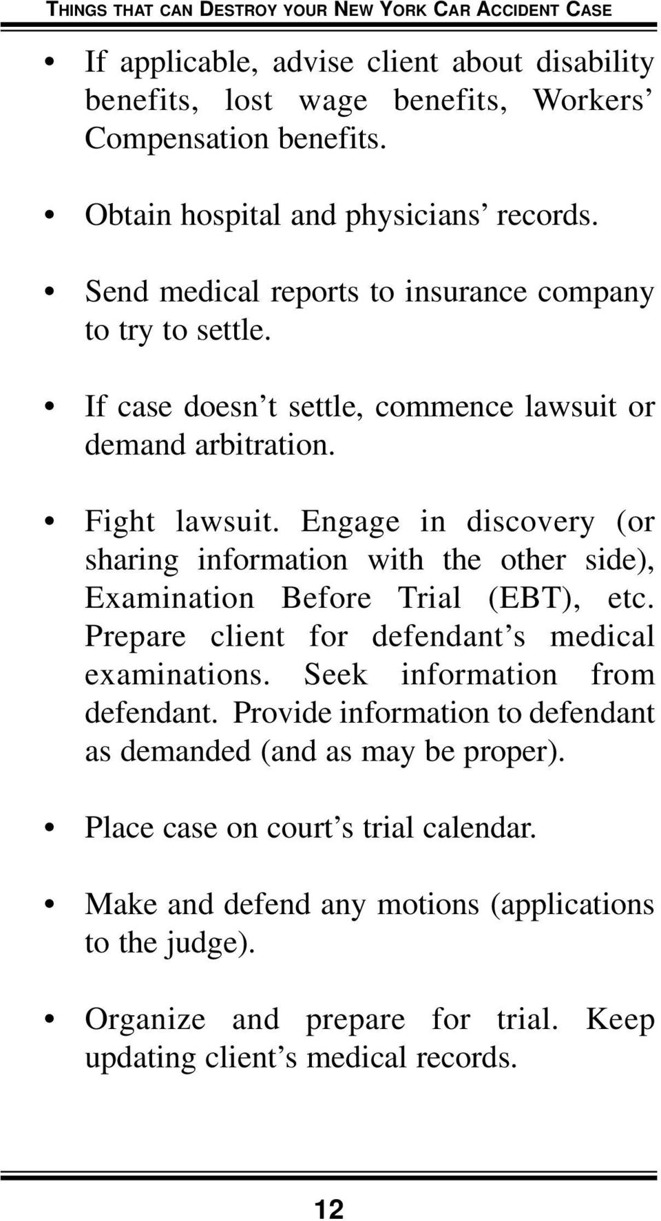 WARNING! Things That Can Destroy Your New York Car Accident Case - PDF