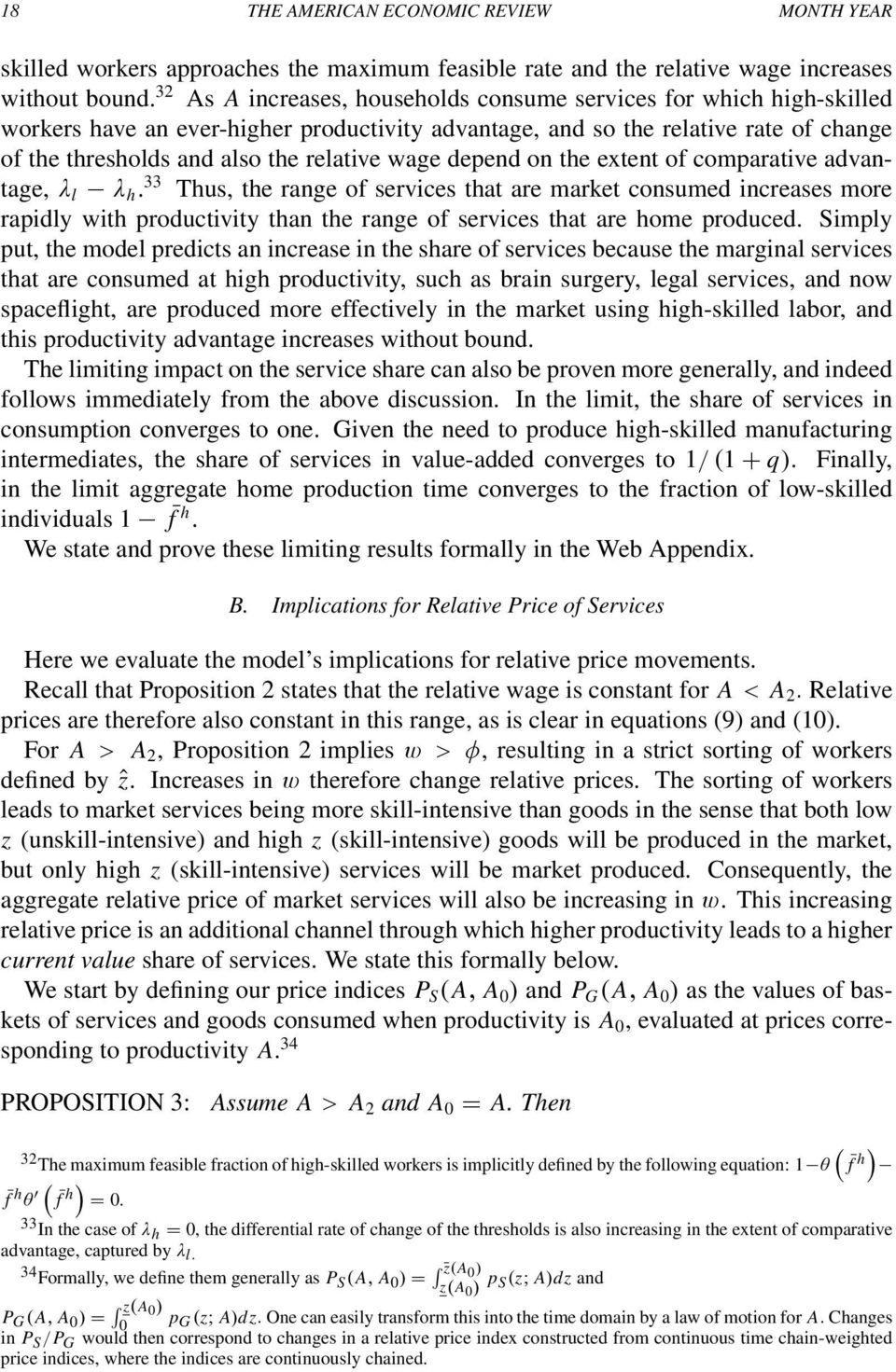 wage depend on the extent of comparative advantage, λ l λ h.