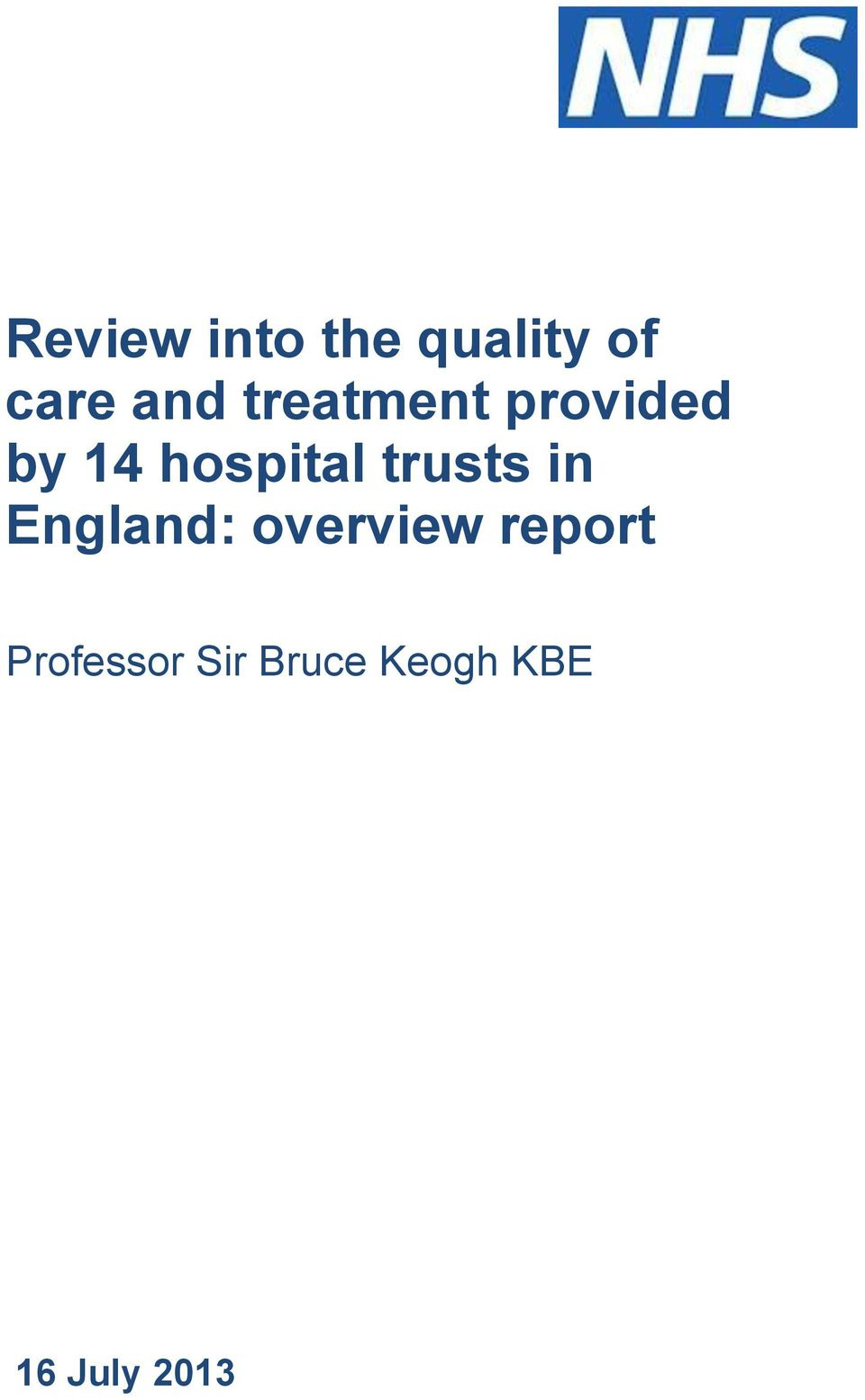 trusts in England: overview report