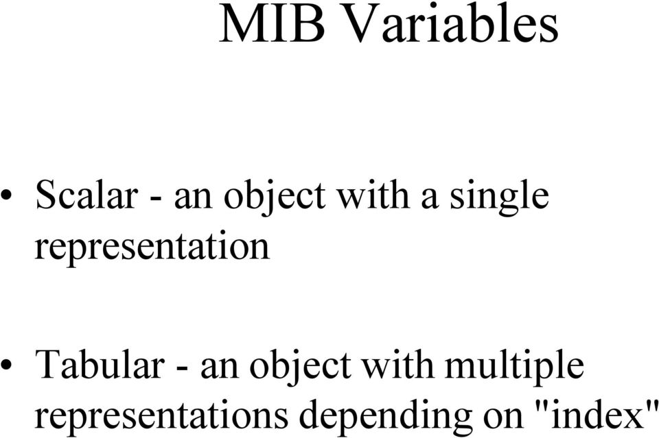 Tabular - an object with