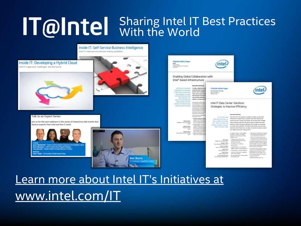 Learn more about Intel IT