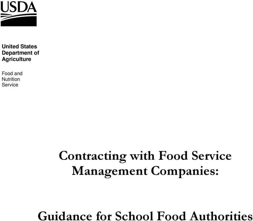 Contracting with Food Service