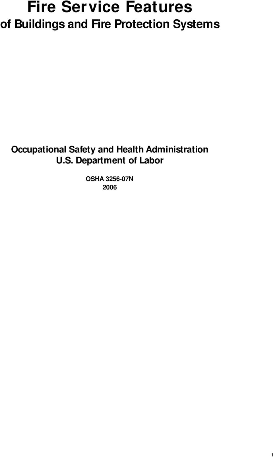 Safety and Health Administration U.S.