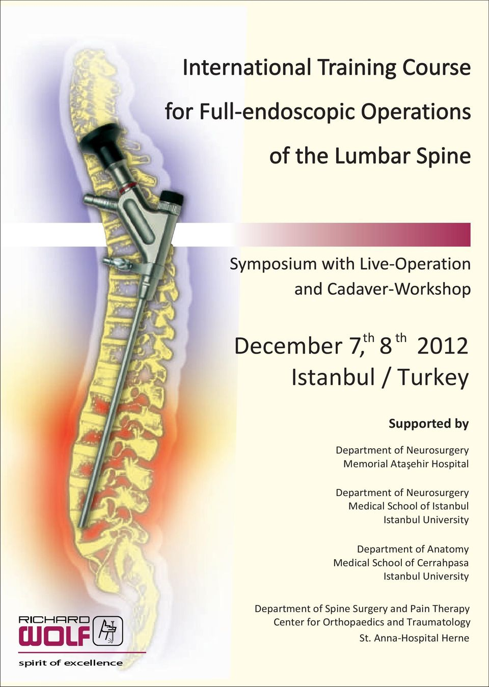 School of Cerrahpasa Department of Spine Surgery and Pain