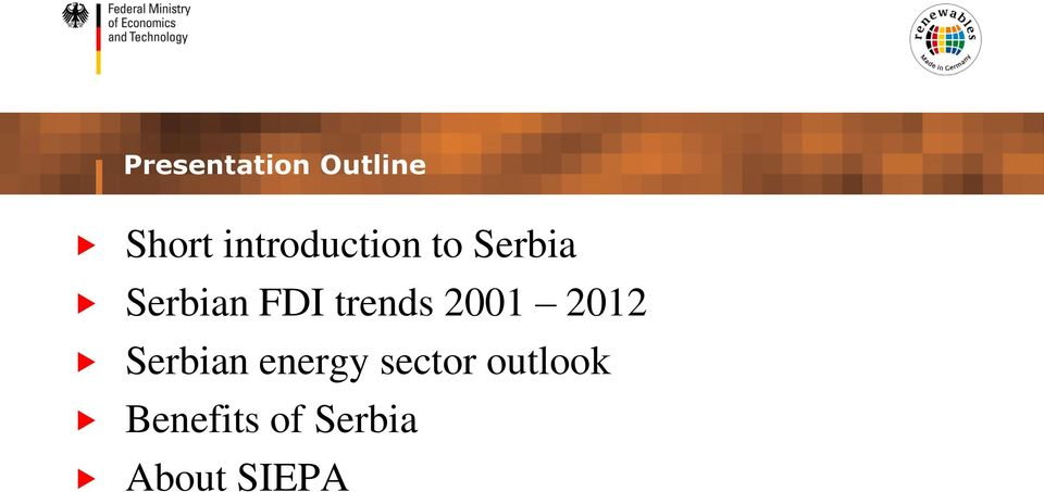 trends 2001 2012 Serbian energy