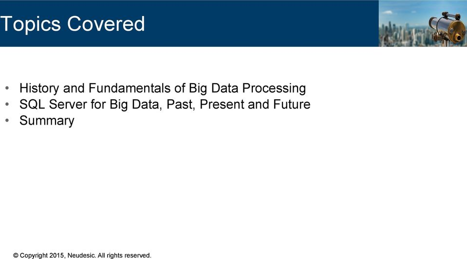 Processing SQL Server for Big