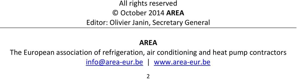 association of refrigeration, air conditioning and