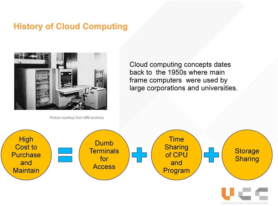 a history benefits and functions of cloud computing Important features of cloud computing since the inception of information technology, it has played an important part in ensuring that companies and businesses run smoothly.