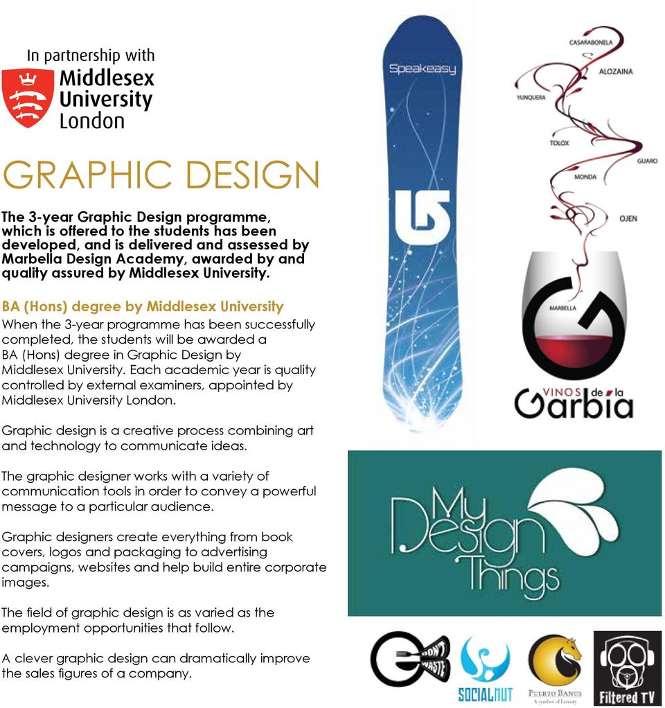 BA (Hons) degree by Middlesex University When the 3-year programme has been successfully completed, the students will be awarded a BA (Hons) degree in Graphic Design by  Each academic year is quality
