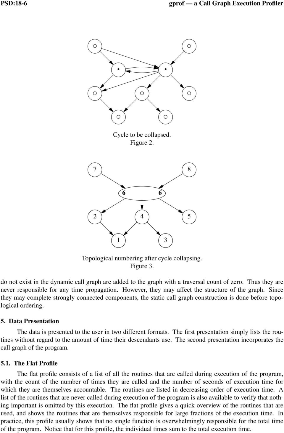 However, they may affect the structure of the graph. Since they may complete strongly connected components, the static call graph construction is done before topological ordering. 5.