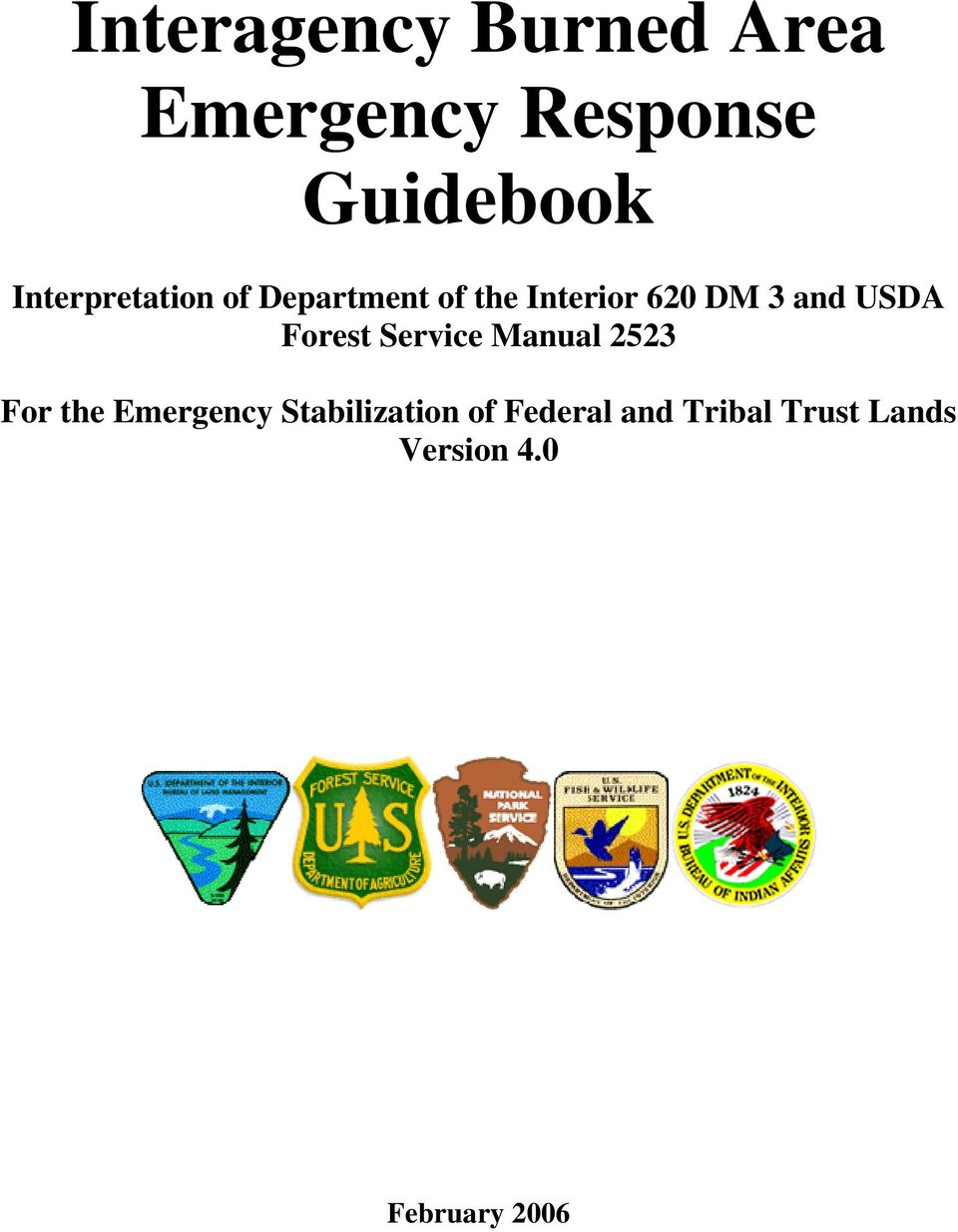 USDA Forest Service Manual 2523 For the Emergency