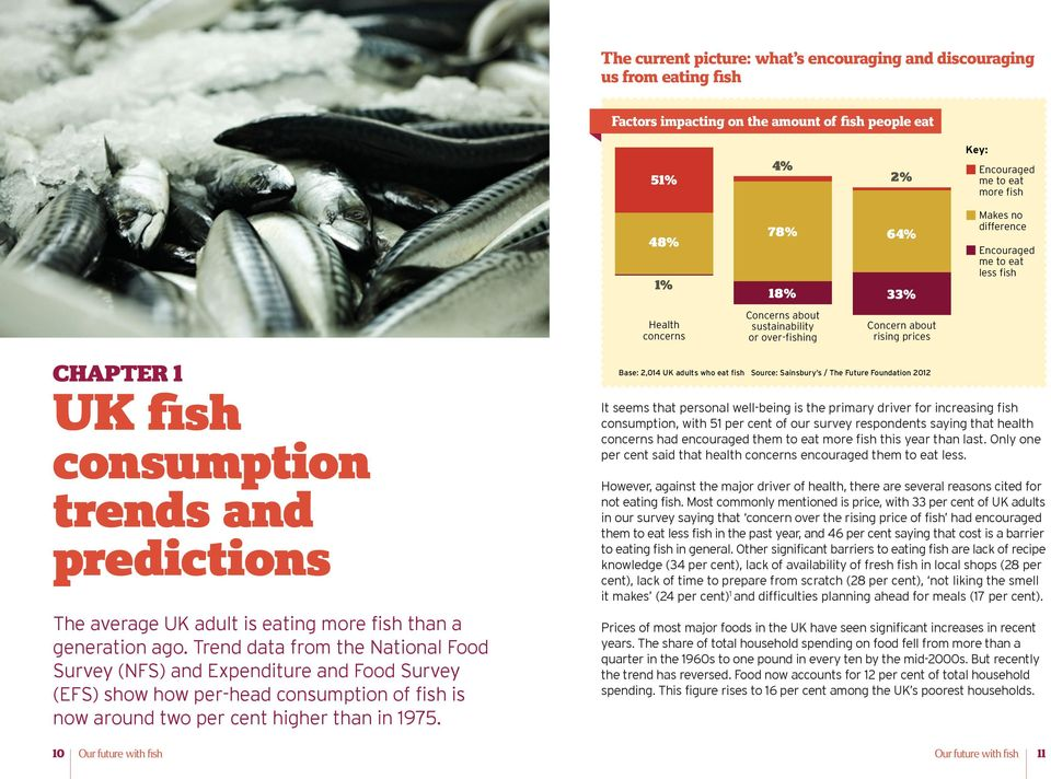average UK adult is eating more fish than a generation ago.