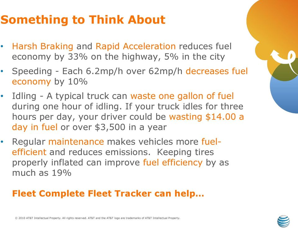 If your truck idles for three hours per day, your driver could be wasting $14.