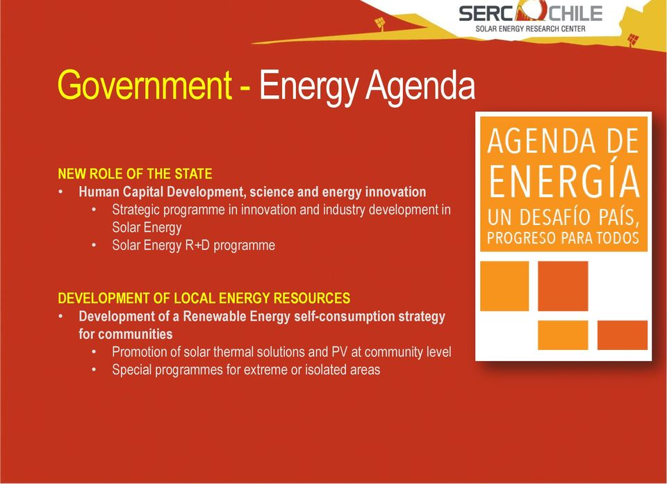 DEVELOPMENT OF LOCAL ENERGY RESOURCES Development of a Renewable Energy self-consumption strategy for
