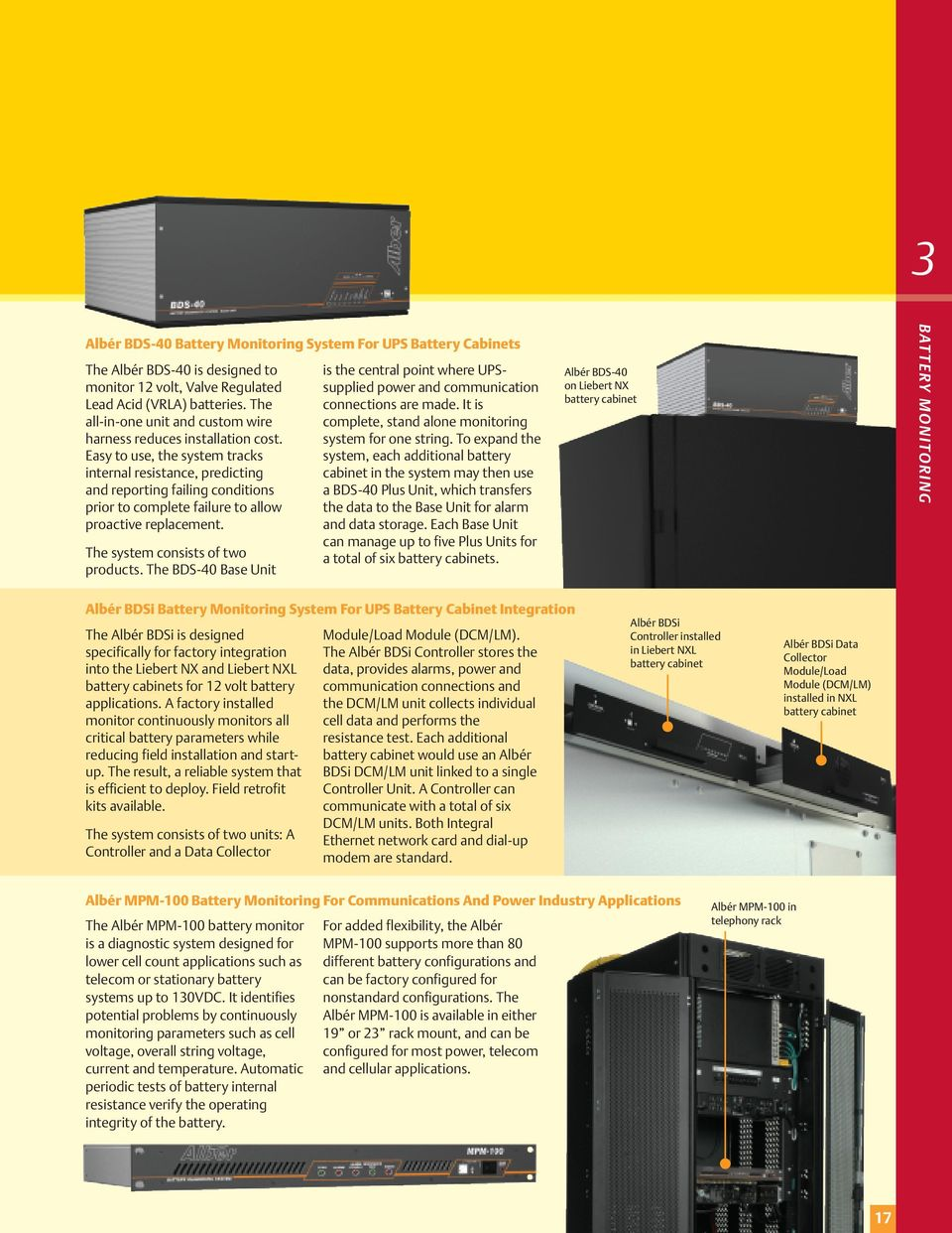 Liebert Battery Monitoring System : Liebert monitoring solutions protecting your investment