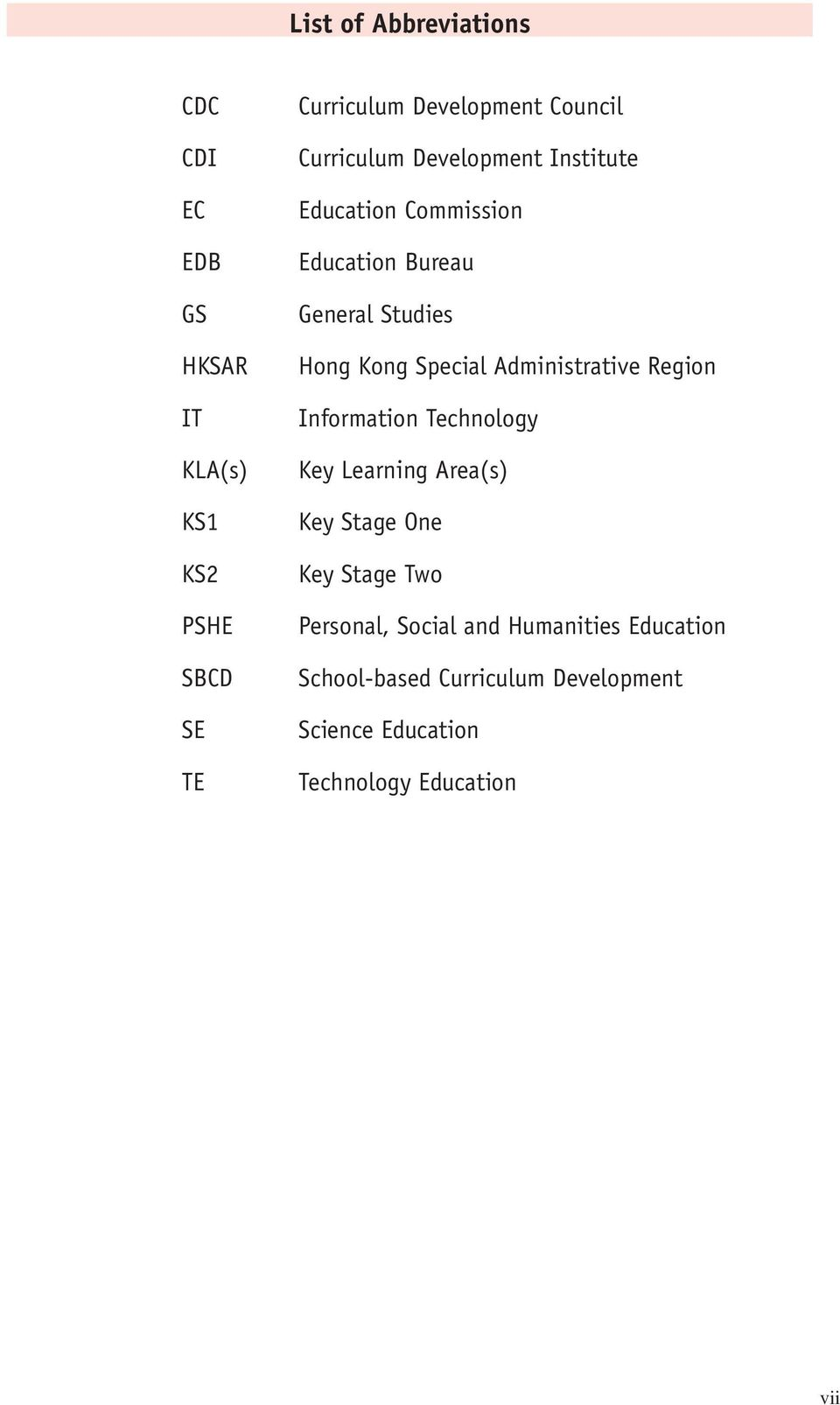Special Administrative Region Information Technology Key Learning Area(s) Key Stage One Key Stage Two