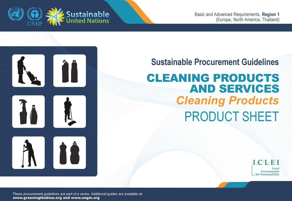 Governments for Sustainability These procurement guidelines are part of a