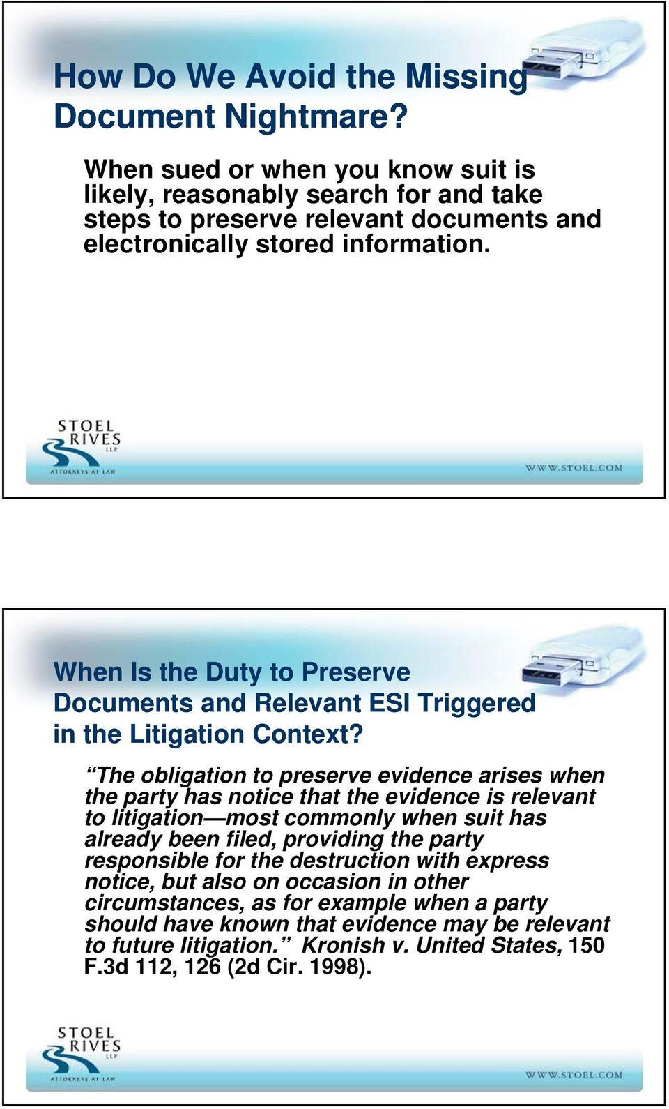 When Is the Duty to Preserve Documents and Relevant ESI Triggered in the Litigation Context?