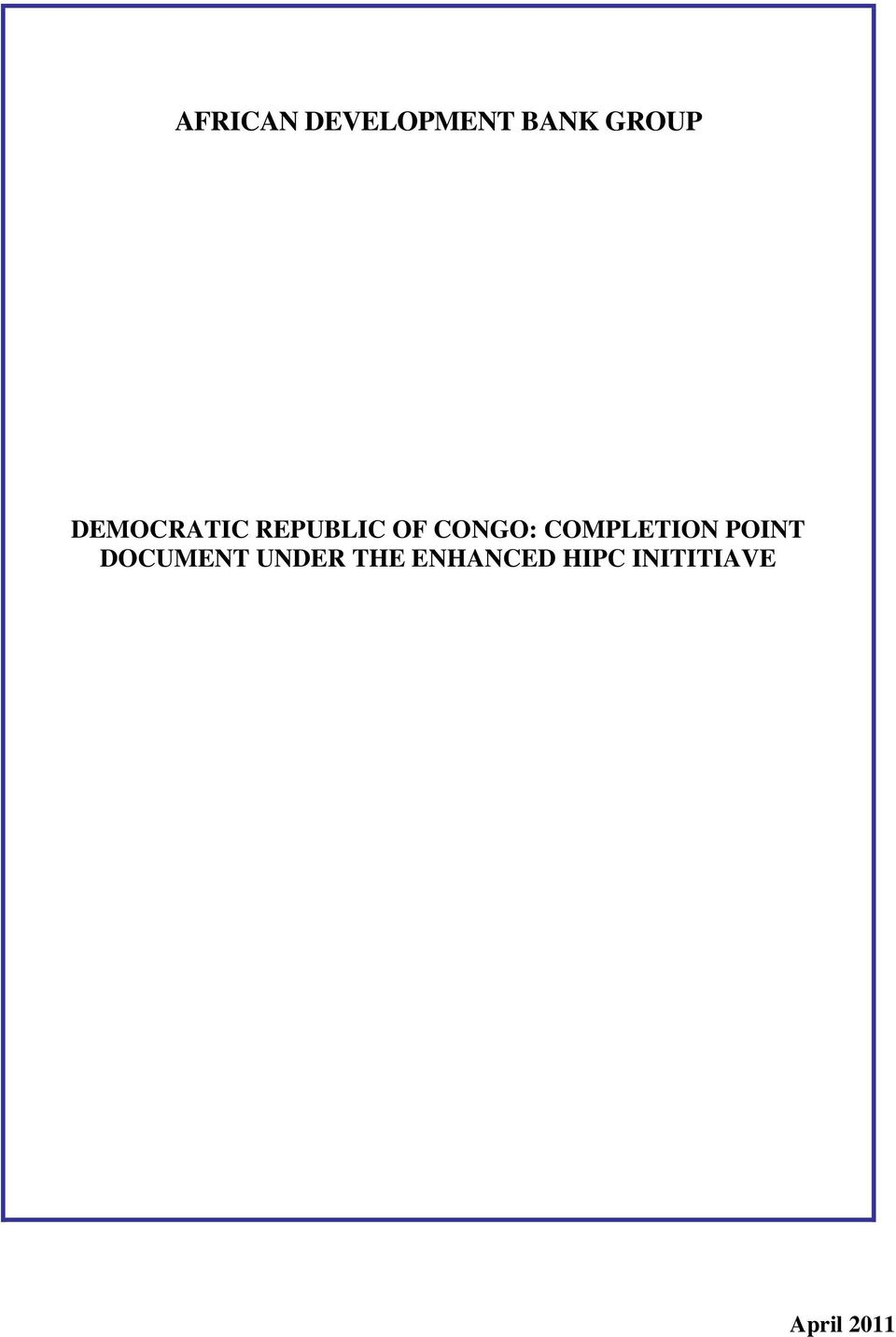 COMPLETION POINT DOCUMENT UNDER