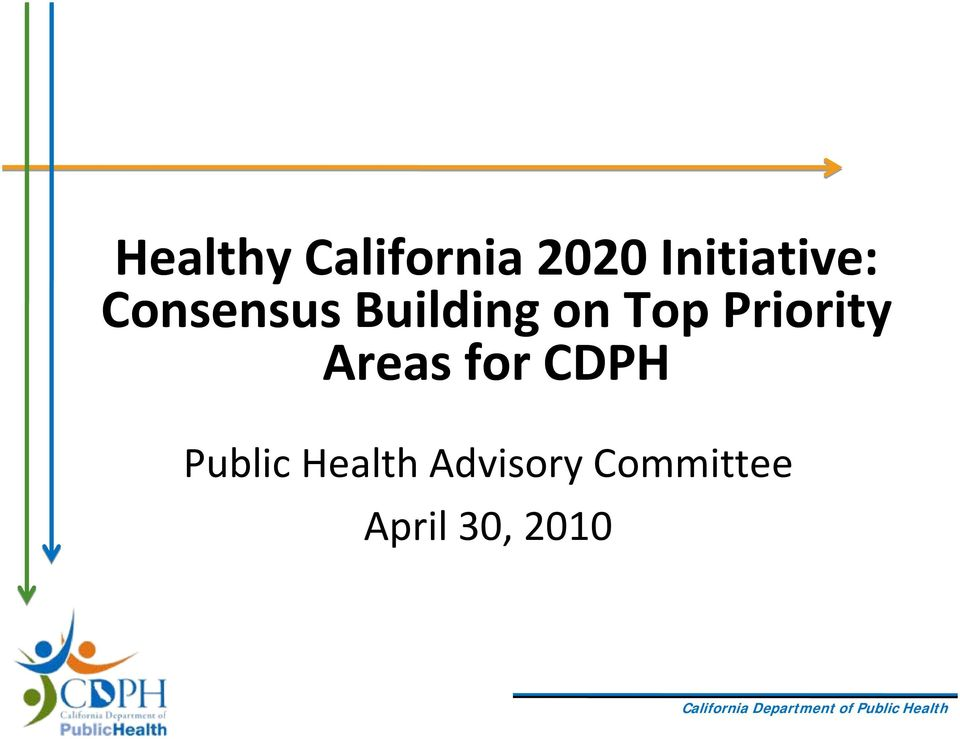 Top Priority Areas for CDPH
