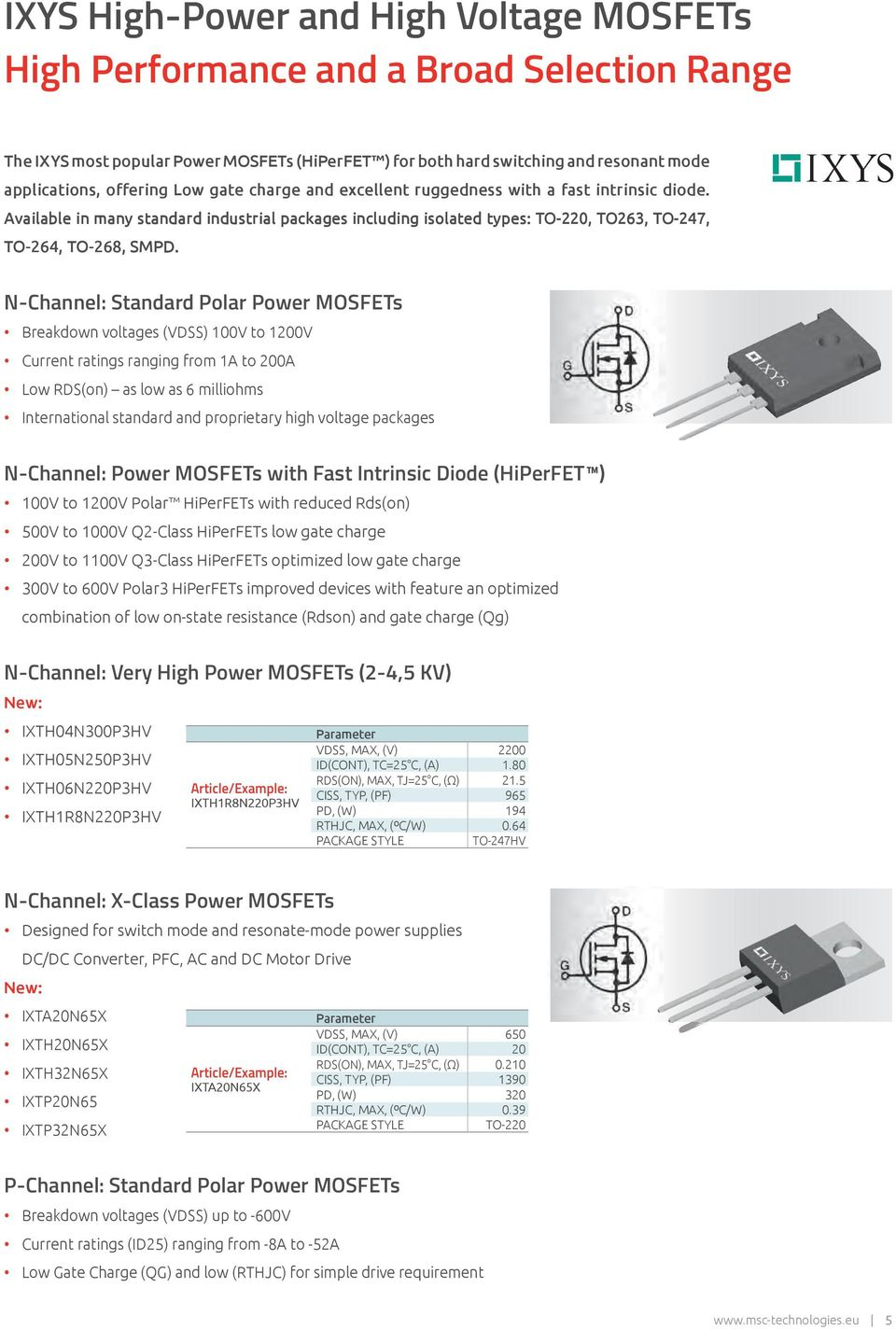 Intelligent Solutions Driving Innovation High Power Application Pdf 52w Smps Ac Dc Adapter N Channel Standard Polar Mosfets Breakdown Voltages Vdss 100v To 1200v