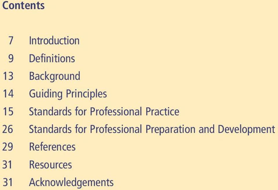 Practice 26 Standards for Professional Preparation and