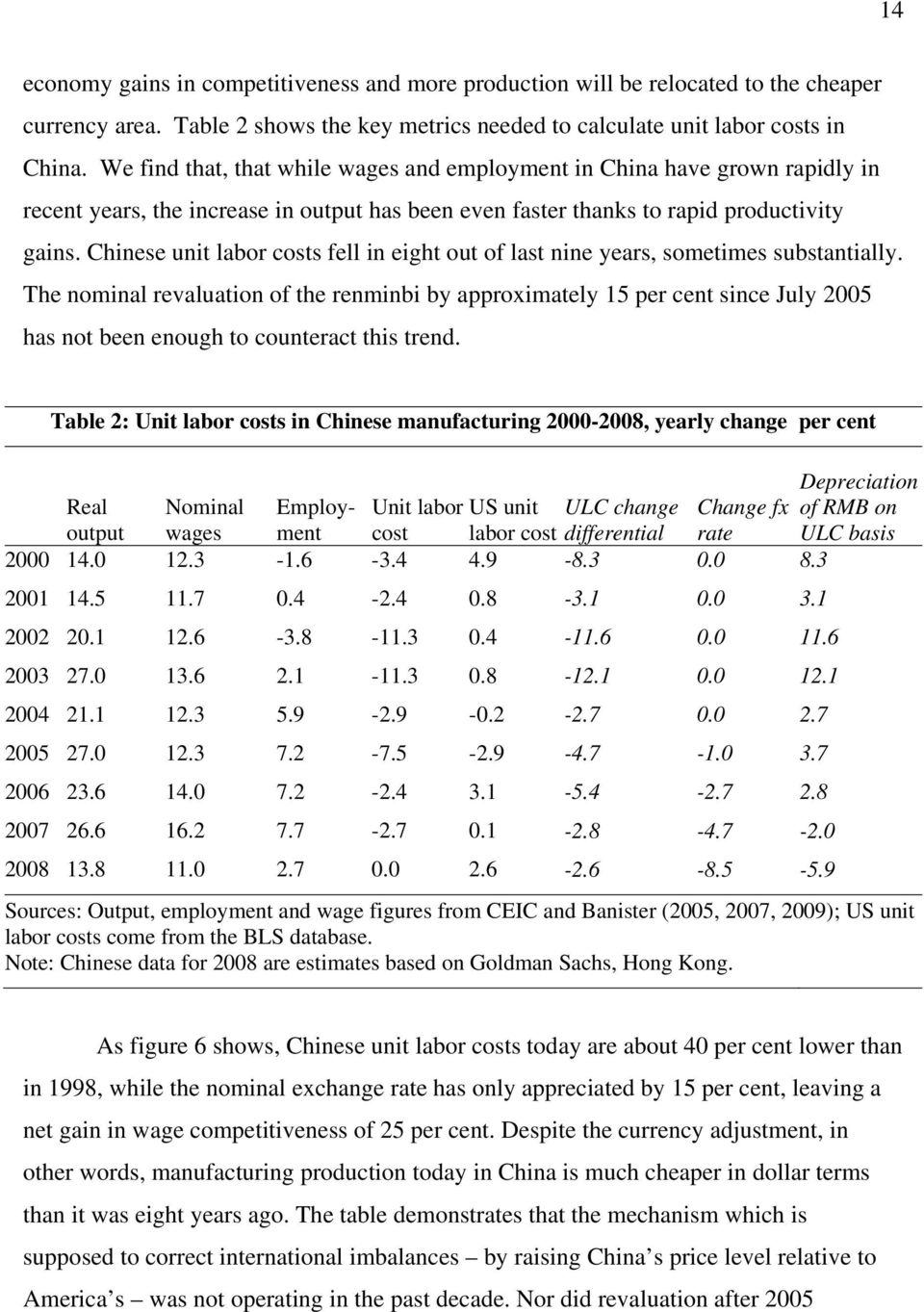 Chinese unit labor costs fell in eight out of last nine years, sometimes substantially.