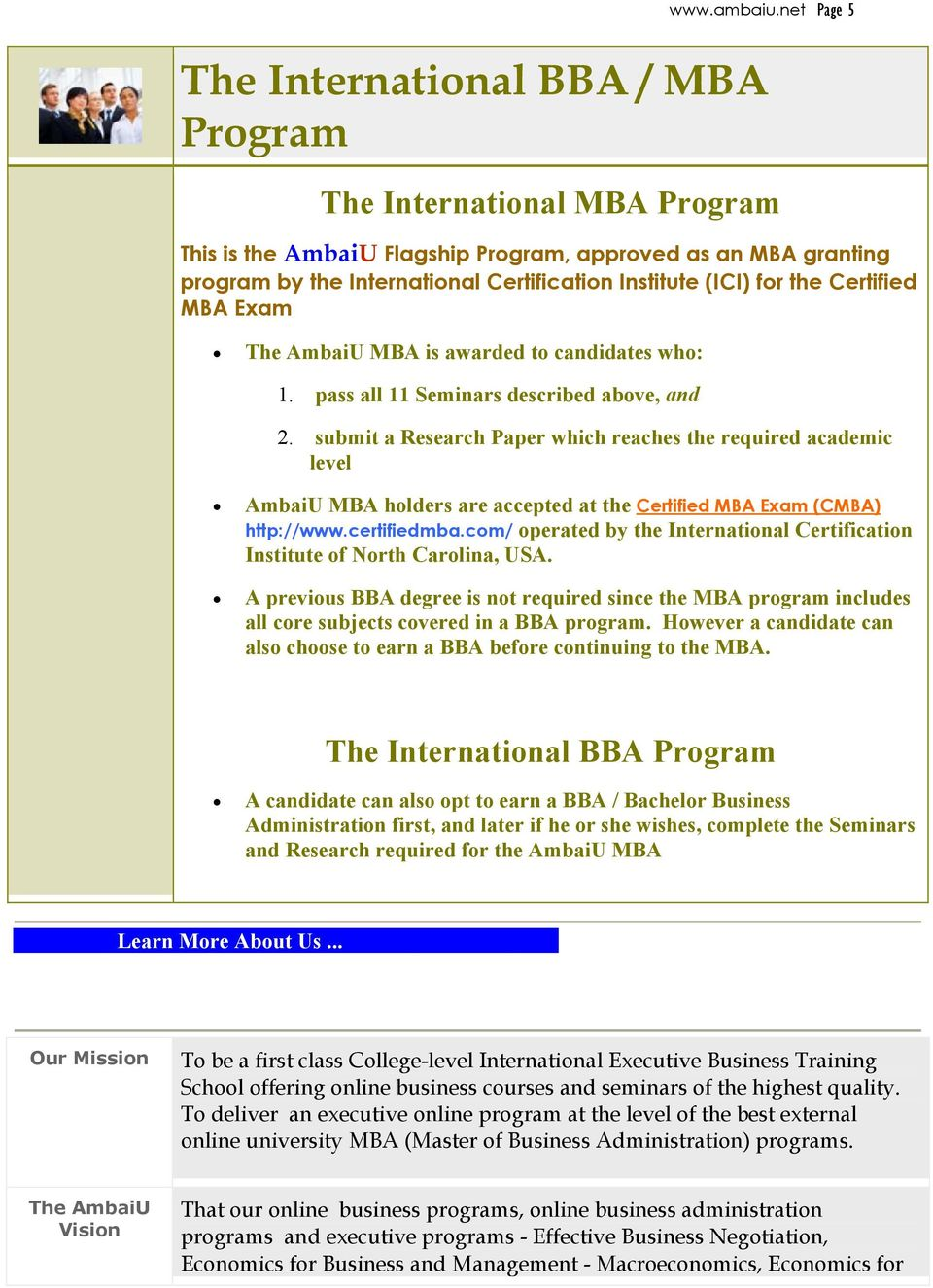 Also From Ambaiu Business Management Certificate Programs Visit Pdf