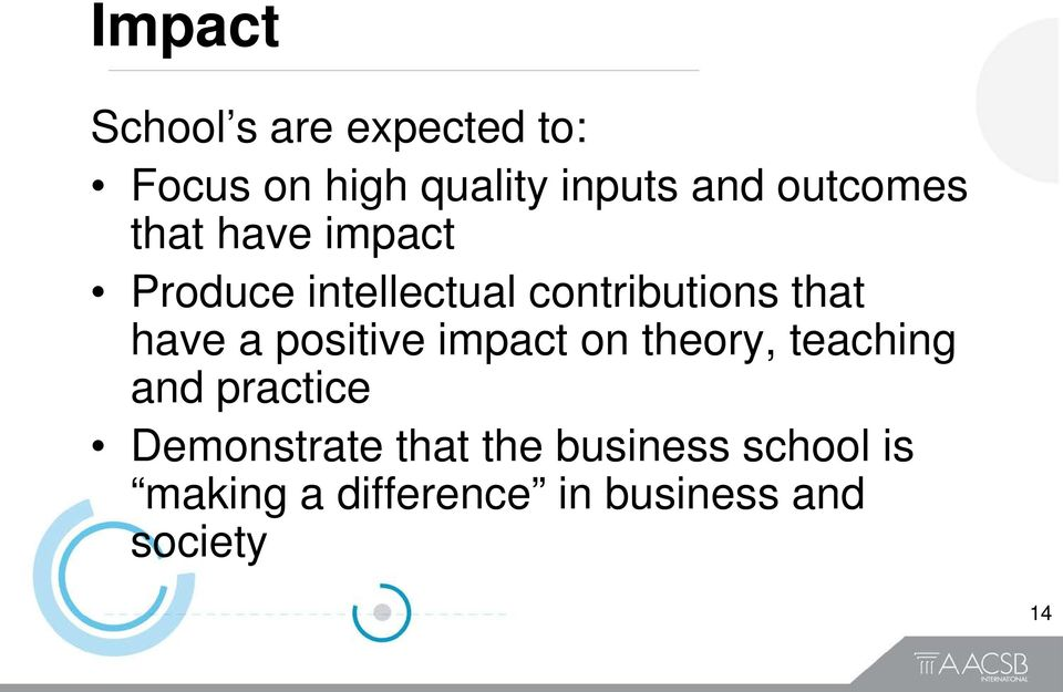 have a positive impact on theory, teaching and practice Demonstrate