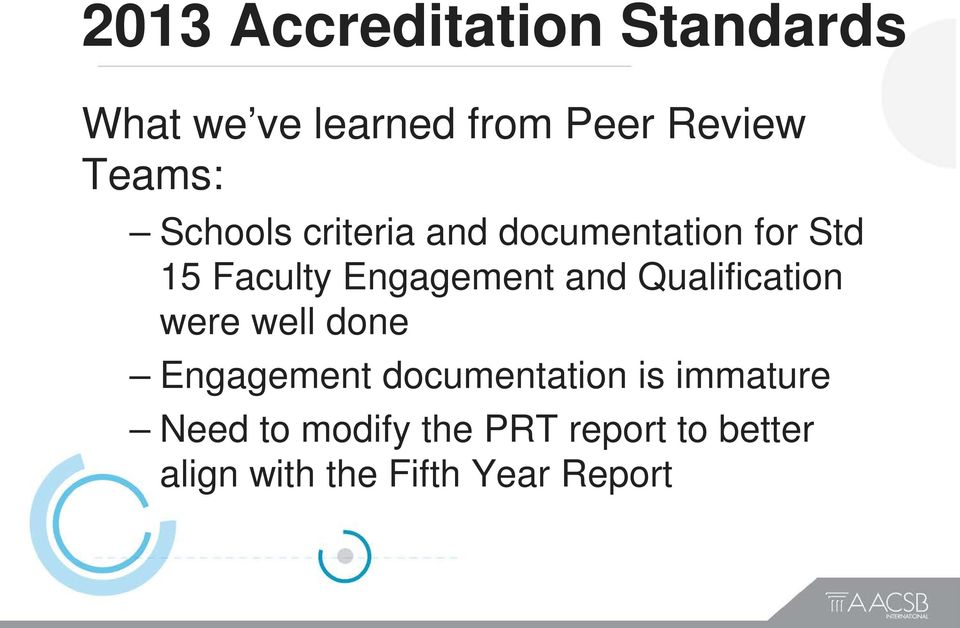 Engagement and Qualification were well done Engagement documentation