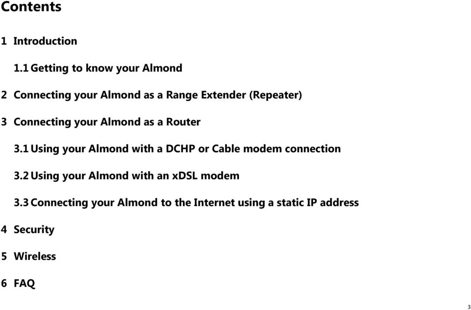 3 Connecting your Almond as a Router 3.