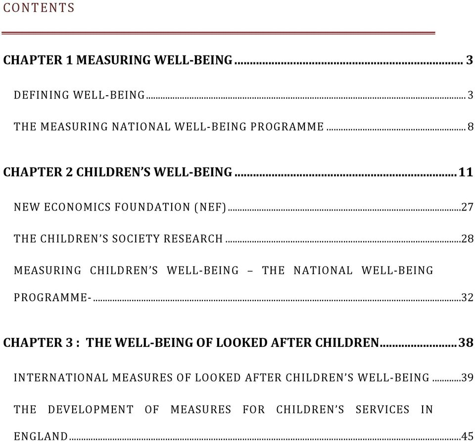 ..28 MEASURING CHILDREN S WELL-BEING THE NATIONAL WELL-BEING PROGRAMME-.