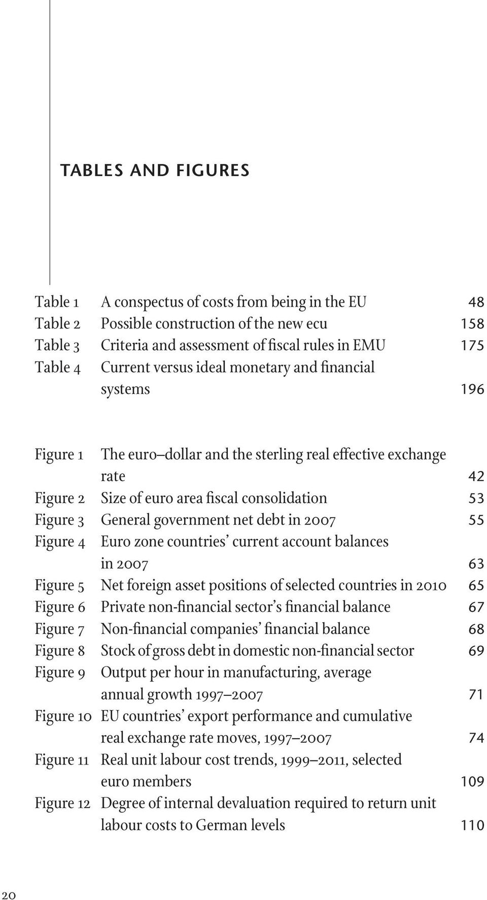 government net debt in 2007 55 Figure 4 Euro zone countries current account balances in 2007 63 Figure 5 Net foreign asset positions of selected countries in 2010 65 Figure 6 Private non-financial