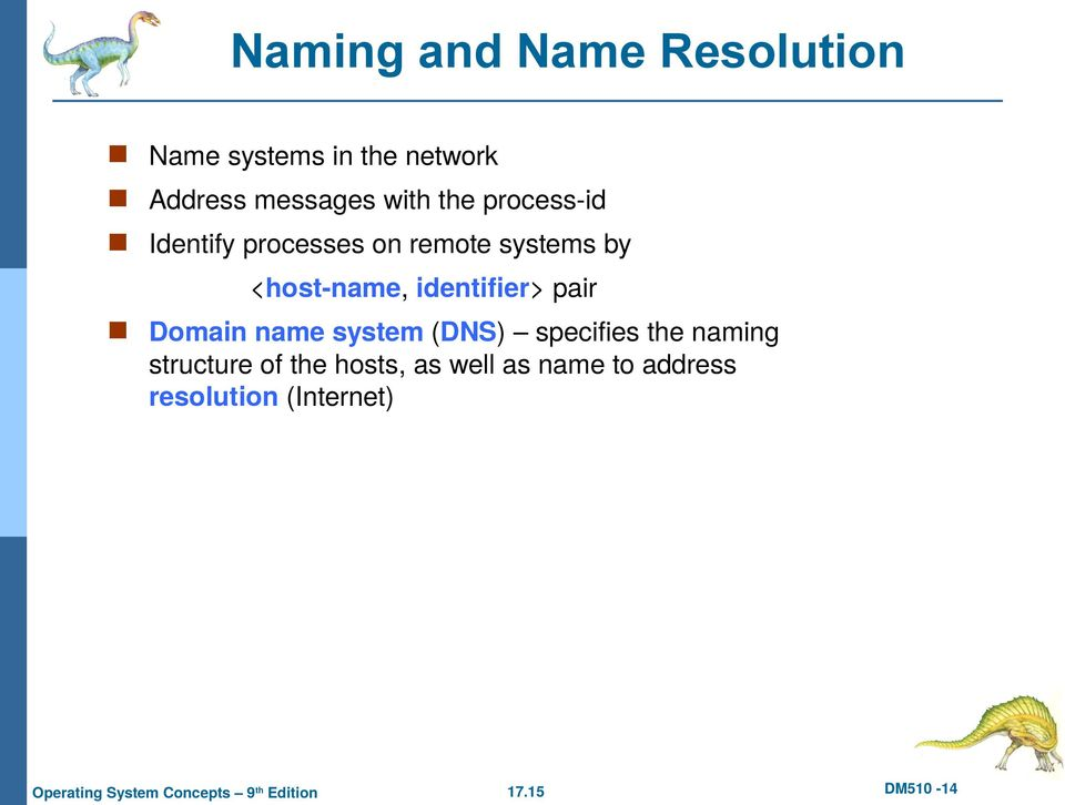 identifier> pair Domain name system (DNS) specifies the naming