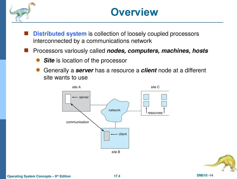 nodes, computers, machines, hosts Site is location of the processor