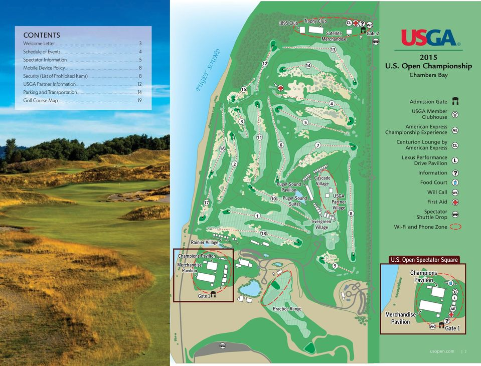 ......................................................... 5 Security (List of Prohibited Items) 13 D Schedule of Events............................................................... 4 15 Golf Course Map.