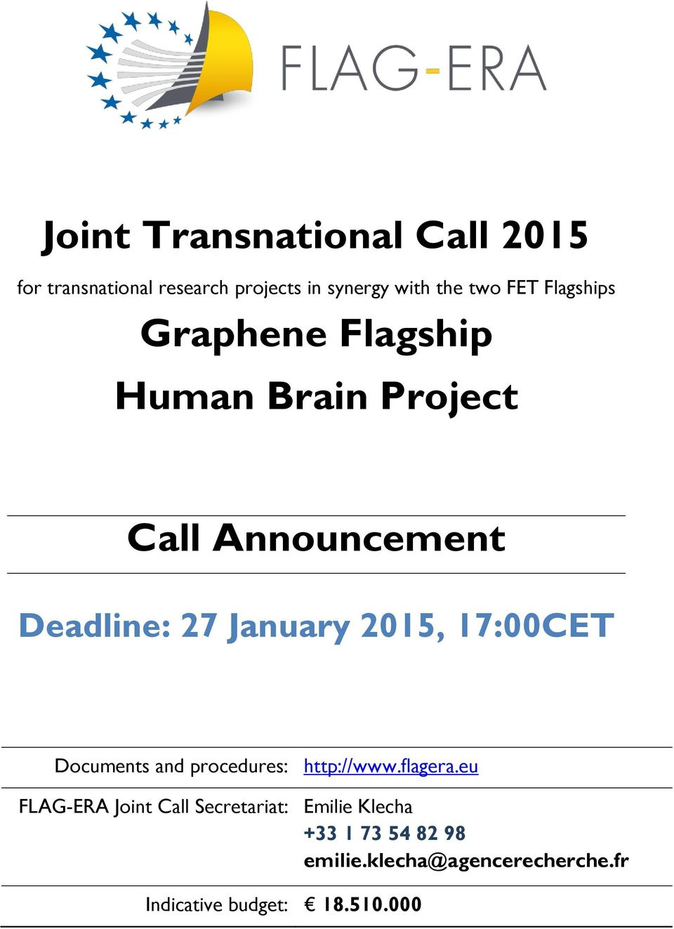 2015, 17:00CET Documents and procedures: http://www.flagera.