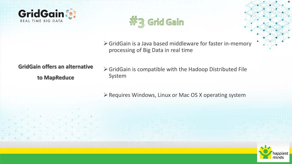 alternative to MapReduce GridGain is compatible with the